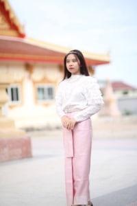 ชุดไทยสไบสีชมพู 3