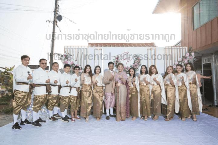 ชุดไทยผู้ชายพร้อมเช่าราคาถูก